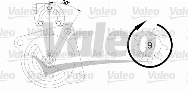 VALEO 455518 Motorino...