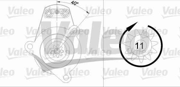 VALEO 455522 Motorino...