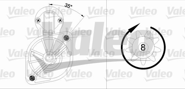 VALEO 455562 Motorino...