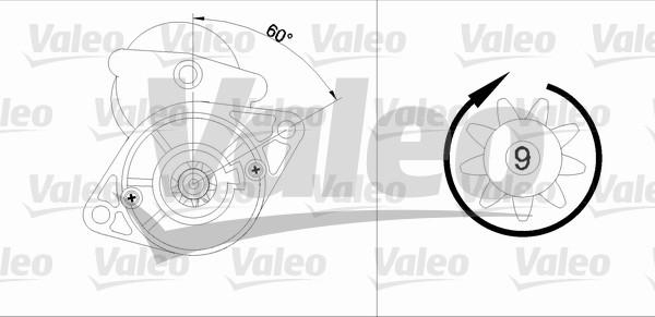 VALEO 455612 Motorino...