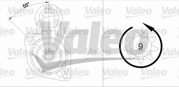 VALEO 455625 Motorino...
