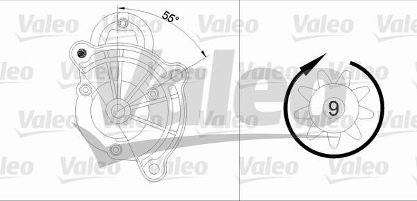 VALEO 455748 Motorino...