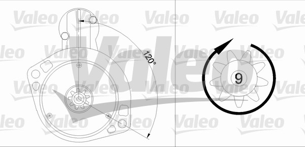 VALEO 455912 Motorino...