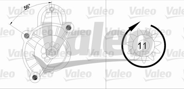 VALEO 455928 Motorino...