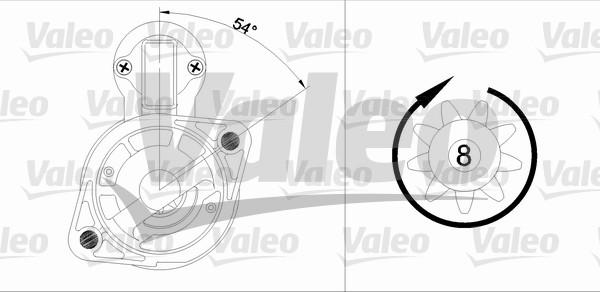 VALEO 455964 Motorino...