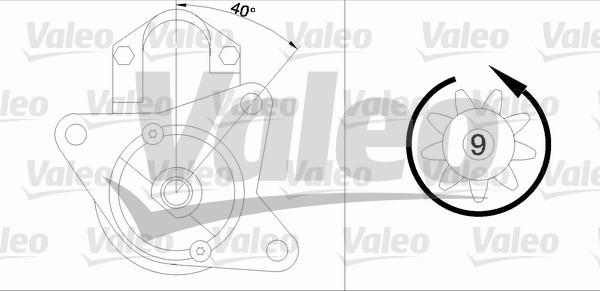 VALEO 458168 Motorino...