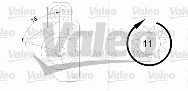 VALEO 458175 Motorino...