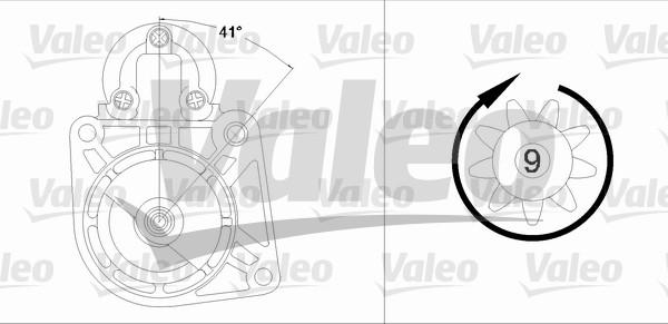 VALEO 458195 Motorino...