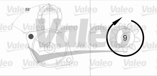 VALEO 458211 Motorino...