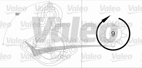 VALEO 458224 Motorino...