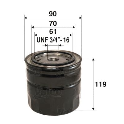 VALEO 586036 Filtro olio