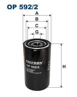FILTRON OP 592/2 Filtro olio