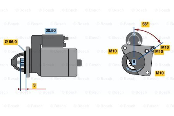 BOSCH 0 001 106 017 Motorino d'avviamento