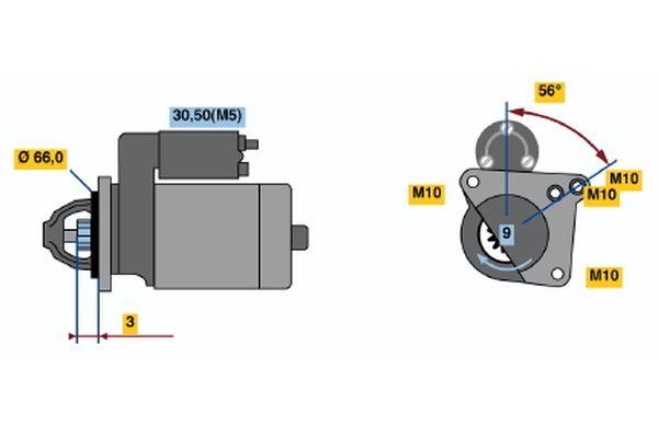 BOSCH 0 001 106 022 Motorino d'avviamento