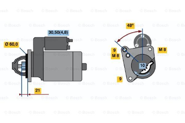 BOSCH 0 001 106 405 Motorino d'avviamento