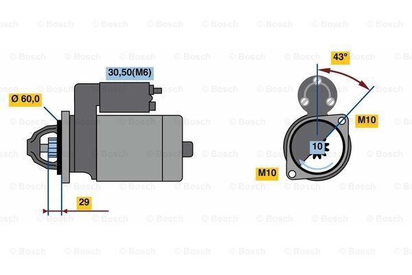BOSCH 0 001 107 459 Motorino d'avviamento
