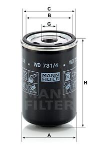MANN-FILTER WD 731/4 Filtro...