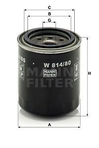 MANN-FILTER W 814/80 Filtro...