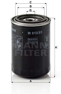 MANN-FILTER W 818/81 Filtro...