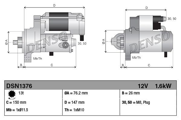 DENSO DSN1376 Motorino...
